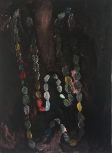 Parels voor de Swennen, 2019 acryl, Chinese inkt en olieverf op linnen 115 x 85 cm